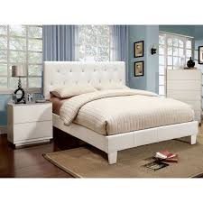 Furniture of America Mircella White 3-piece Bed, Nightstand and 12 ...