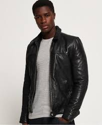 superdry premium indiana leather jacket