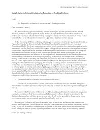 Tenure Recommendation Letter From Student Example Sample Letter Teaching Prof Templates At