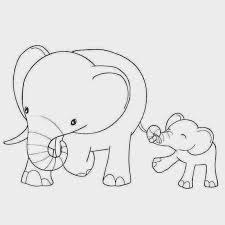 mother and baby clipart colouring picture 2