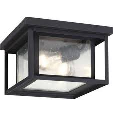 hunnington 2 light outdoor black flush mount black weathered pewter