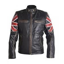 men s fashion cafe bike racer jacket uk flag leather jacket