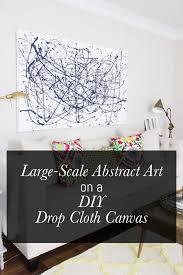 diy drop cloth wall art