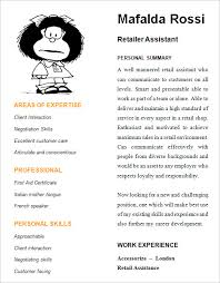 Cv Shop Assistant Free 9 Retail Resume Templates In Samples Examples Format