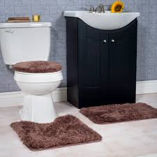 Plush Bathroom Rugs Lavish Home 3 Piece Super Plush Non Slip Bath Mat Rug Set Home