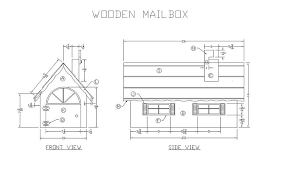 mailbox flag dimensions. Learn How To Build A Wooden Mailbox - Woodworking Plans At Lee\u0027s Wood Projects Flag Dimensions E