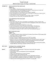 resume simple example retention specialistsume samples velvet jobs sample templates