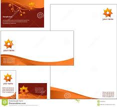 Letterhead Template Design Vector Stock Vector Illustration Of