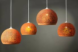 orange lamp shades pendant light canada burnt uk