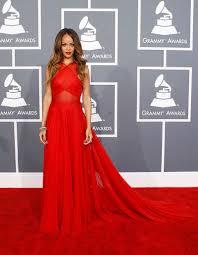 Design Your Own Red Carpet Dress Rihanna Sheer Red Dress Grammys 2013 Red Carpet Lunss
