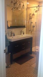 dual vanity bathroom: double sink vanity solution for small bathroom