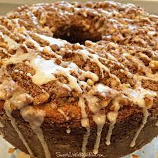 Cream the butter and sugar in the bowl of an electric mixer fitted with the paddle attachment for 4 to 5 minutes, until light. Sour Cream Coffee Cake Sweet Little Bluebird