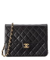Chanel Chanel Black Quilted Lambskin Single Flap Chain Bag ... & Chanel Chanel Black Quilted Lambskin Single Flap Chain Bag Adamdwight.com
