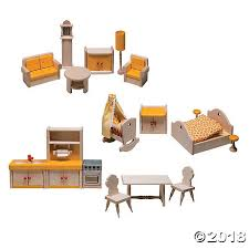 cheap wooden dollhouse furniture. 17-Piece Wooden Dollhouse Furniture Set Cheap
