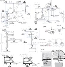 technical drawing for ergotron 45 405 026 workfit lx sit stand desk