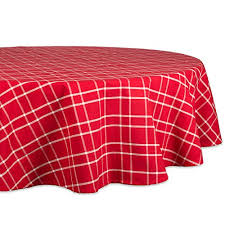 farmhouse plaid round tablecloth 100 cotton with 1 2 hem for holiday family gatherings dinner 70 round seats 4 to 6