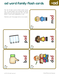 Word With Ad Ad Family Words Flash Cards Free Worksheets Primarylearning Org