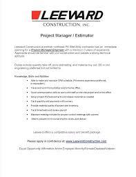 Electrical Estimator Resumes Masonry Estimator Jobs Blogue Me