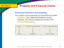 8 property and financial claims section 3 1 financial claims in accounting the creditor s