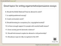 Political Persuasive Essay Topics Under Fontanacountryinn Com