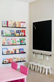 Kids Room: White And Yellow Kids Playroom Decor - Chalkboards