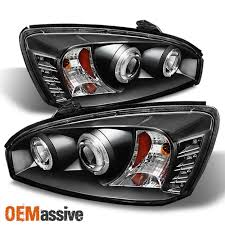 2008 Chevy Malibu Halo Lights Fits Black 04 08 Chevy Malibu Halo Projector Led Headlights Lamps Left Right