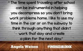 bring work home. brilliant work another way i managed to keep a better worklife balance and decompress was  making the most out of my commute something angela also recommends in bring work home