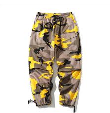 Designer Camo Pants Wholesale Designer Brand 2018 Men Camo Pants Joggers Man Loose Cargo Pants Male Sweatpants Streetwear Camouflage Clothes