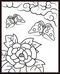 レク素材 花札6月牡丹に蝶 介護レク広場レク素材やレクネタ