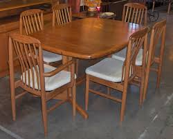 chairs by benny linden danish modern dining set