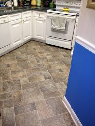 Natural Stone Kitchen Flooring Kitchen Sheet Vinyl Kitchen Flooring With Natural Stone Look