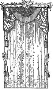 lace curtains stock image