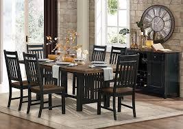 three falls 90 dark brown black rectangular dining table w solid wood top