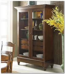 wood display cabinets with glass doors