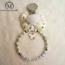 <b>MIYOCAR</b> unique item handmade <b>bling</b> bear shape <b>pacifier clip</b> ...