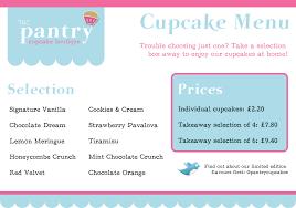 The Pantry Cupcake Boutique Logo Menu And Signage Design