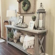 sofa table with shelf farmhouse console table vignette in a foyer home foyers diy sofa table bookshelf
