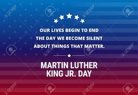 Martin Luther King Day Festival Jour Fond Vecteur Inspiré Citation De La Semaine Commence à Venir à La Journée De Nous Sam Qui Se Chevauchent