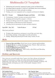 Multimedia Cv Template Tips And Download Cv Plaza