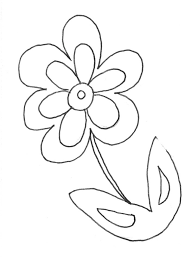 Small Picture coloring pages draw a flower coloring pages for kids free