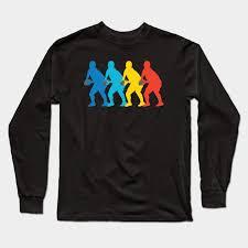retro rugby pop art long sleeve t shirt