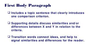 the features of a compare and contrast essay include the features  the features of a compare and contrast essay include