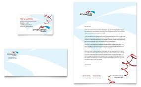Business Card Advertisement Template Gymnastics Academy Business