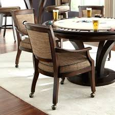 leather dining chairs with casters. Dining Chairs Leather With Casters Wholesale W Poker L