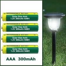 aaa 300mah 1 2v nimh rechargeable solar