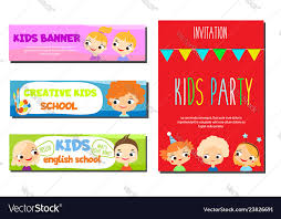 Flyers Theme Kids Theme Banners Flyers For Children School