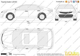 The-Blueprints.com - Vector Drawing - Toyota Avalon