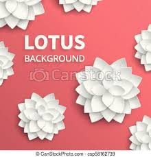 Paper Lotus Flower Abstract Floral Vector Background With Paper Lotus Flowers