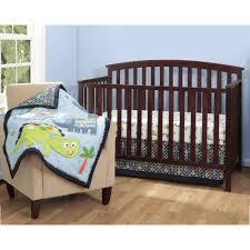 bananafish little dino 3 piece crib bedding set with bonus diaper stacker com