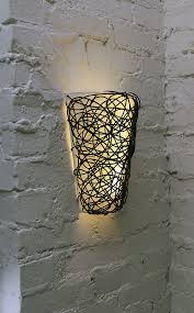 battery powered wall sconce with white light or candle flicker